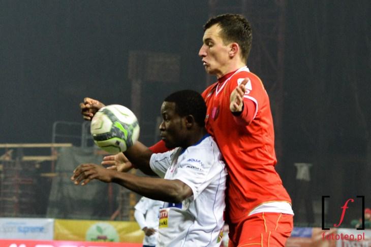 Mecz piłki nożnej wBielsku-Białej