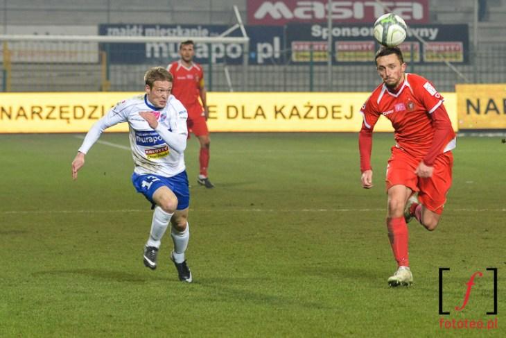 Football match in Bielsko-Biala