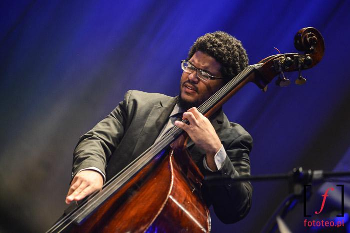 Jon Toscano z Trio of Oz i jego kontrabas na Lotos Jazz Festival