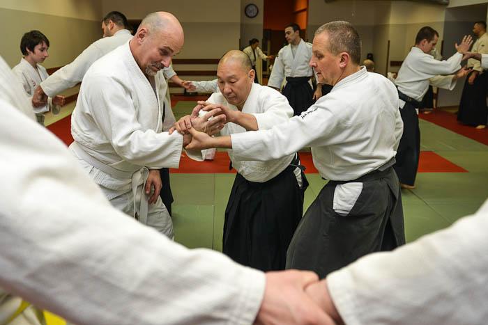 Fotografia z ćwiczeń z sensei Andrew Masaru Sato w Bielsku-Białej