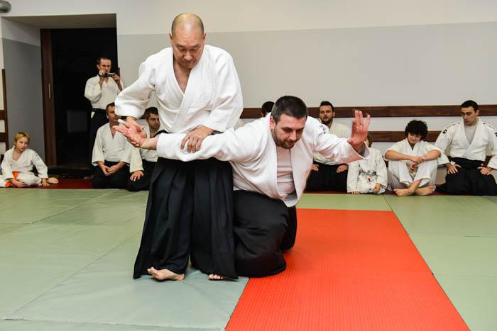 Fotograf Bielsko-Biała. Pokaz techniki Aikido wykonaniu Andrew Masaru Sato