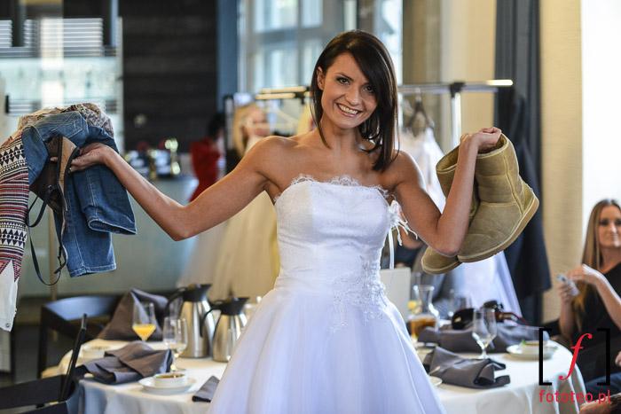Przed pokazem sukien ślubnych- Bielsko-Biała