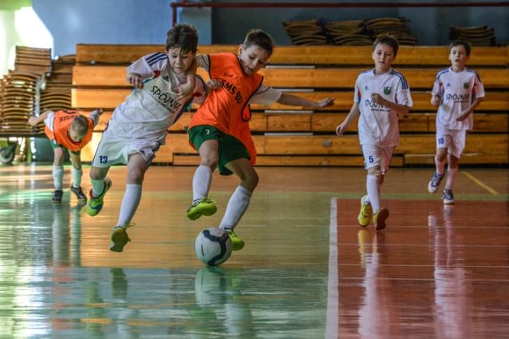 Mecz piłki nożna na hali Widok w Bielsku-Białej
