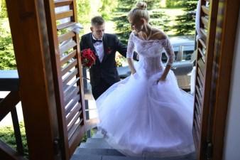 Wejście na salę ślubną w Janowicach koło Bielska-Białej