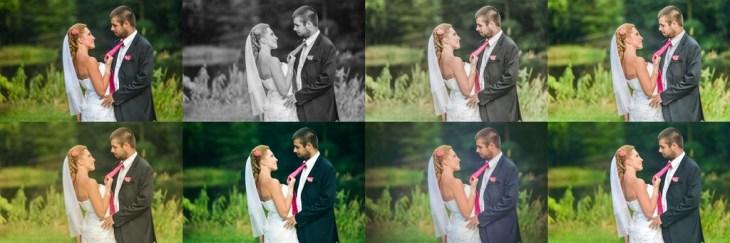 Postprodukcja iobróbka graficzna zdjęć ślubnych
