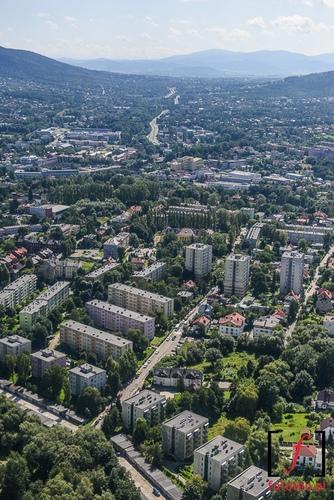 Bielsko-Biala z lotu ptaka, zdjecie lotnicze