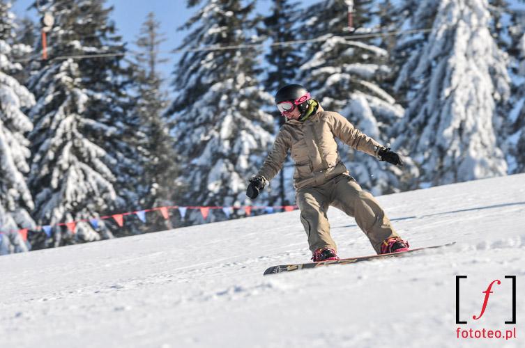 Zawody Snowboard zjazd na kreche