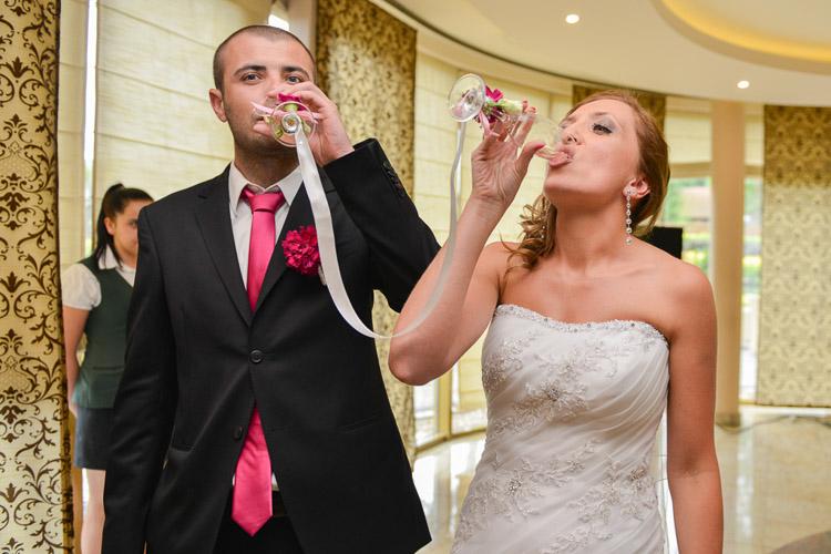 Toast szampanem, wesele Bielsko fotograf