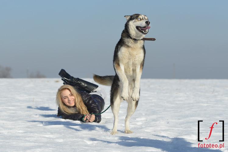 Fotografia z kalendarza. Modelka Angelika Wiciejowska