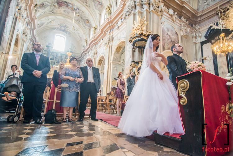 Slub w kosciele sw. Anny w Krakowie