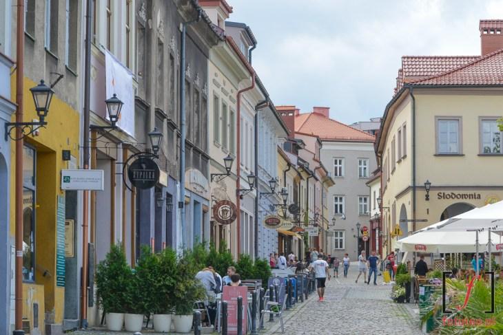 Rynek wBielsku-Białej latem