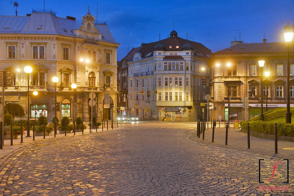 Fotograf Bielsko Biala: widok na kamienice z placu Chrobrego