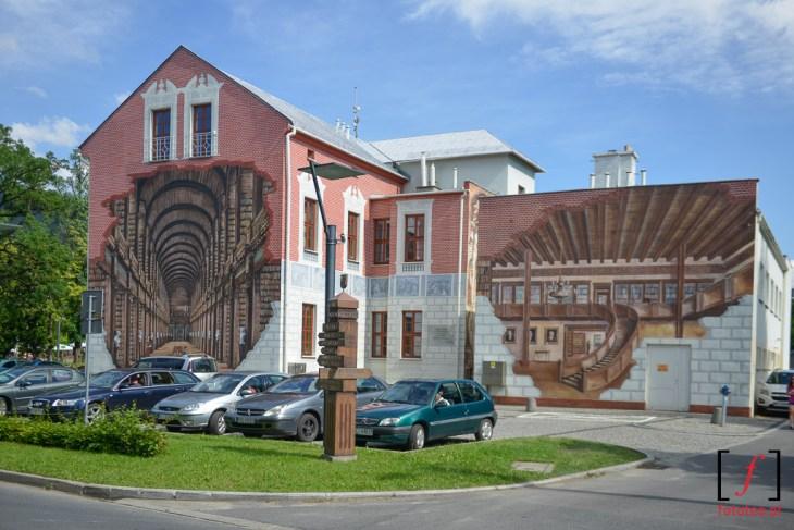 Biblioteka w Ustroniu grafitti