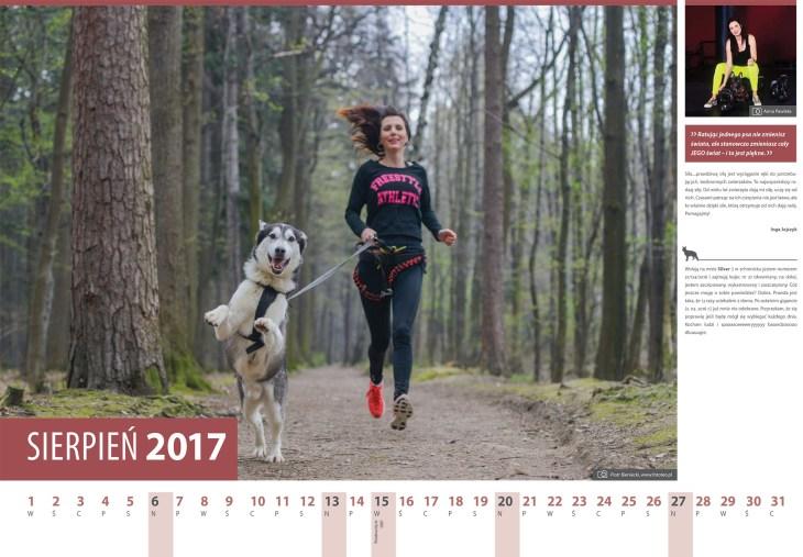 Kalendarz 2017 sierpien. Inga Jojczyk