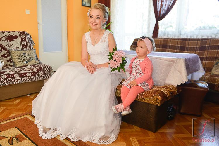 Fotograf ślubny Ustroń Wisła. Przygotowania pani młodej