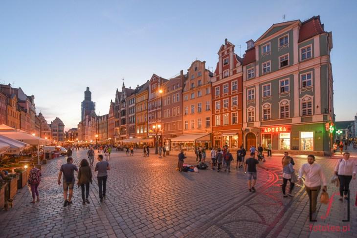 Rynek weWroclawiu wieczorem