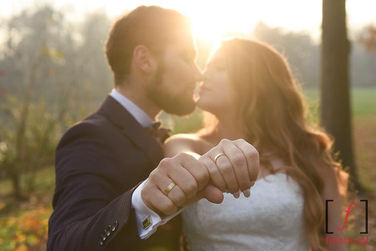 Romantyczne fotografie slubne