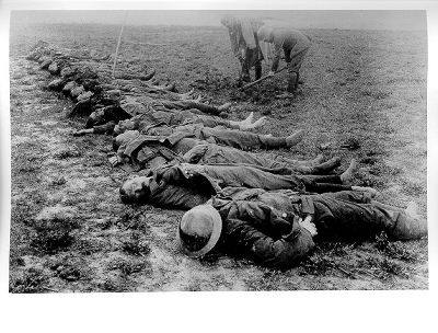 Soldiers - having fought their last battle