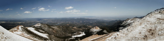 pikespeak mountain panorama colorado pikes peak