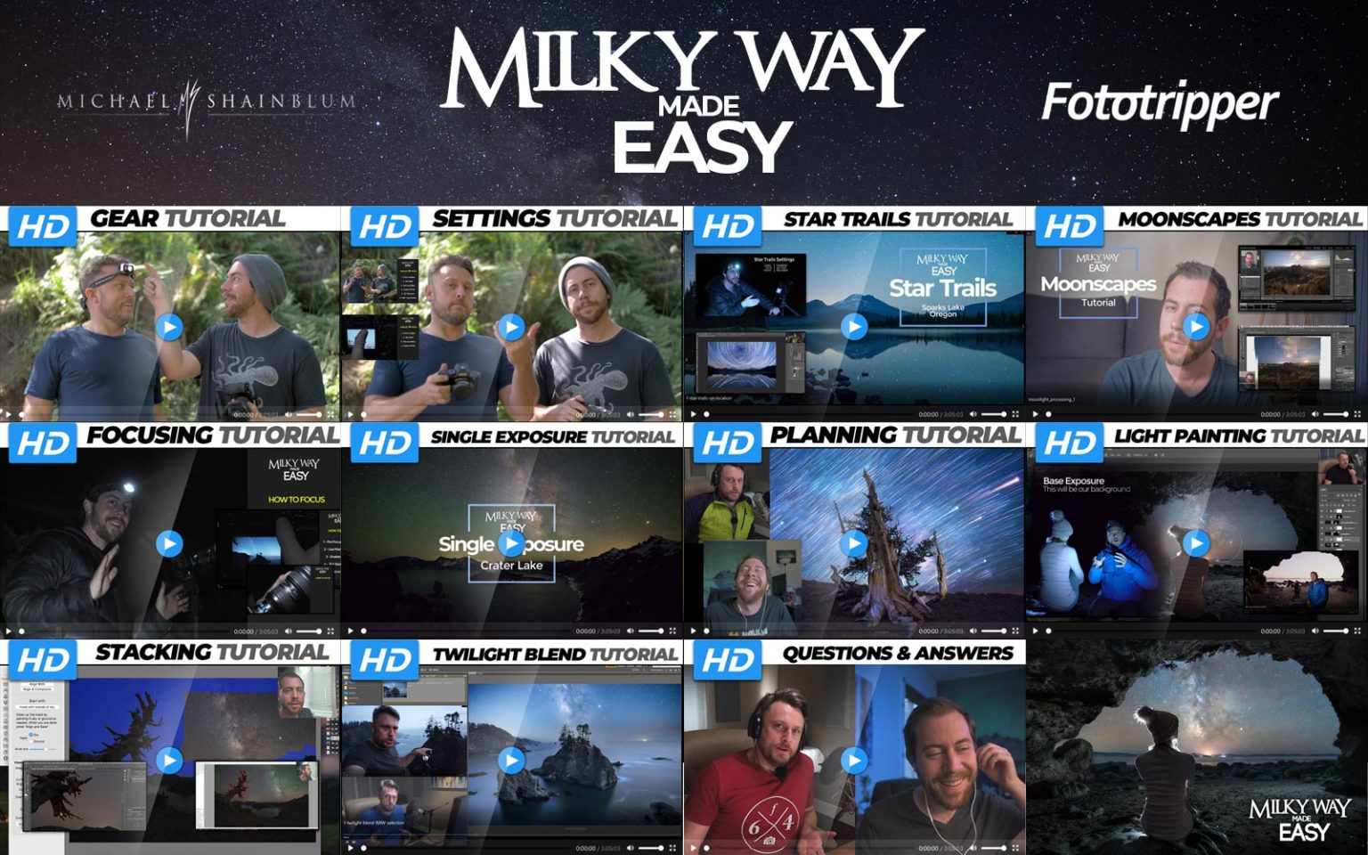 how to photograph the milky way photography course header