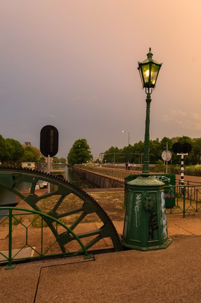 Oude straatverlichting Muntsluis