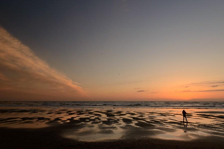 Zonsondergang strand Texel