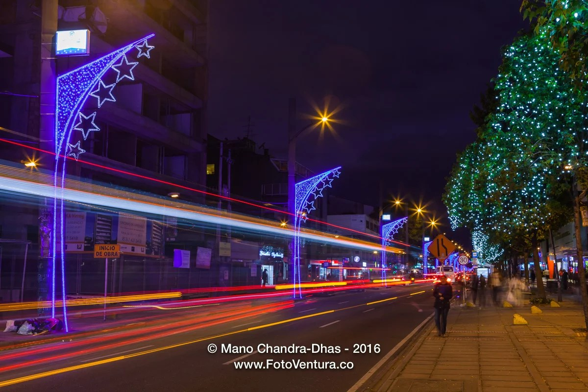 Christmas In Colombia South America.Bogota Colombia South America Christmas Lights On