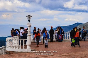 Colombia, South America - Local Colombian tourists and pilgrims