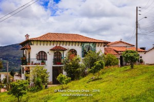Guatavita, Colombia - colonial style Houses on hillside