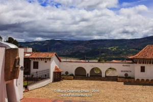 Guatavita on the Andes, Colombia - the main town square