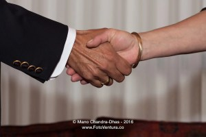 Handshake - Asian Male and Latin American Female