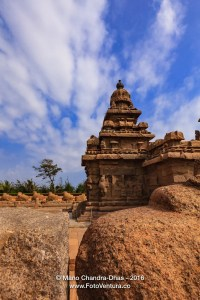 Mahabalipuram, India: 8th Century Shore Temple; Sand and Wind Erosion.