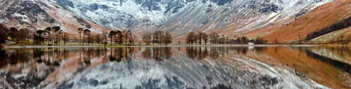 lake district panoramic print on canvas