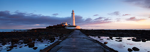 panoramic large lighthouse print on canvas