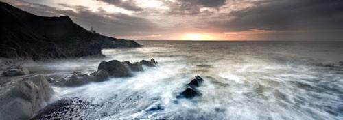 Mumbles Lighthouse panoramic canvas print