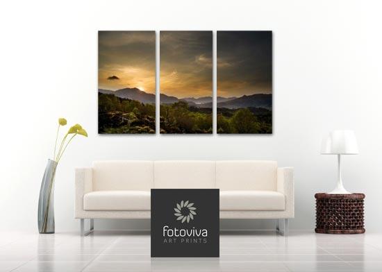 three part canvas art
