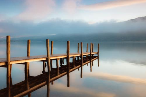 Jetty Reflections at Derwentwater