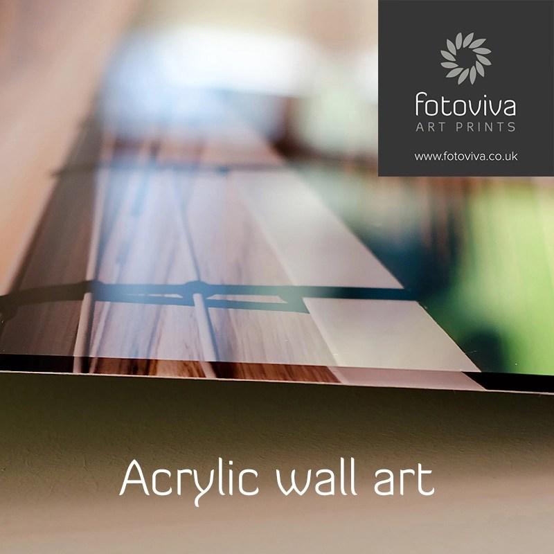 detail of acrylic wall print edges