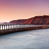 Dawn Light, Whitby - panoramic print by Richard Burdon