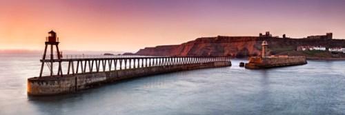 Dawn Light, Whitby - panoramic print by Richard Burdon
