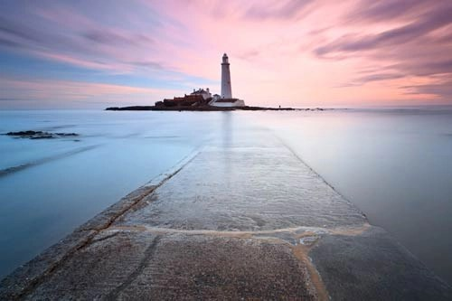 St Marys Lighthouse printed on canvas art