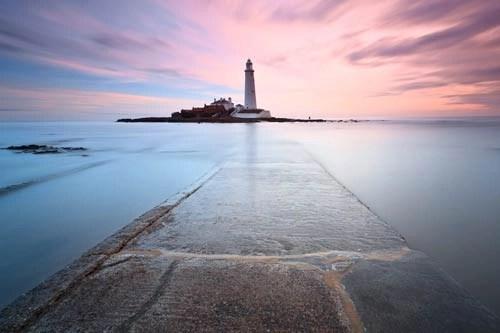 St Marys Lighthouse printed on canvas art