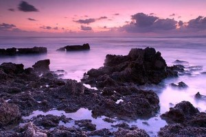Rocky Beach at Twilight