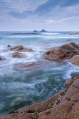 The Brisons islands from Nanven in the Cot Valley, Cornwall, England. Autumn (September) 2014. © Adam Burton