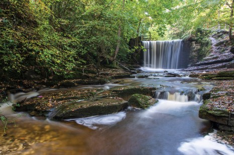 Clywedog Valley, Plas Power Waterfall in autumn, long exposure. Nikon D800, 16-35 at 24mm, 4 sec @ f/16, ISO 100, tripod