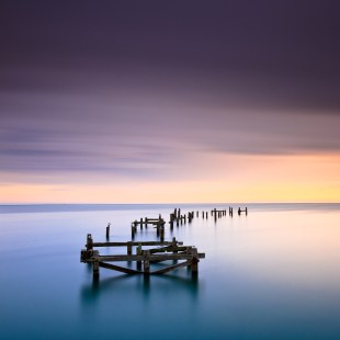 The Old Pier at Swanage on a winter morning, framed to exclude the new pier on the left and Peveril Point on the right. A little time was spent with the clone tool to remove some buoys.Canon 5D II, 24-105mm at 28mm, ISO 200, 300 seconds at f/11 © Mark Bauer