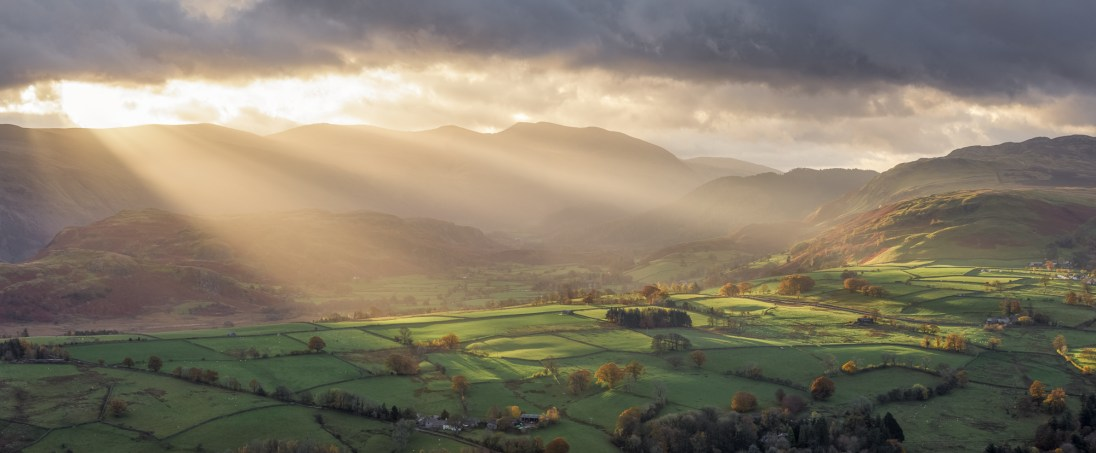 Heaven Sent, Latrigg, Cumbria. Canon 6D, Canon 70-300 f/4-5.6L IS USM at 135mm (Pano), ISO100, 1/80sec, f11, Tripod, November. © Richard Fox.