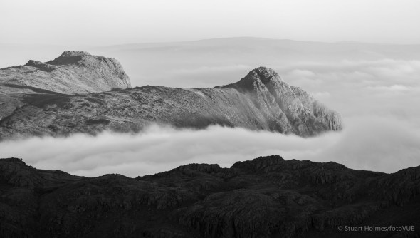 Langdale Pikes from the slopes of Green Gable. Canon 5D Mk III, 100-400mm at 286mm, ISO 100, 1/200s at f/5. © Stuart Holmes.