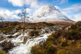 Stob Dearg, Scotland. Canon 5D Mark III, Canon EF 24-70mm at 24mm, ISO 200, 1/8 s at f/16 .Tripod, ND Grads + Polariser. January © Drew Buckley