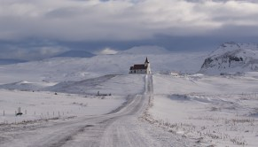 Icelandic Church in February, Sony A7R, Canon 24-70 F2.8 MKII at 70mm, ISO 100, 1/500s at f/11, handheld. February. © Andrew Yu